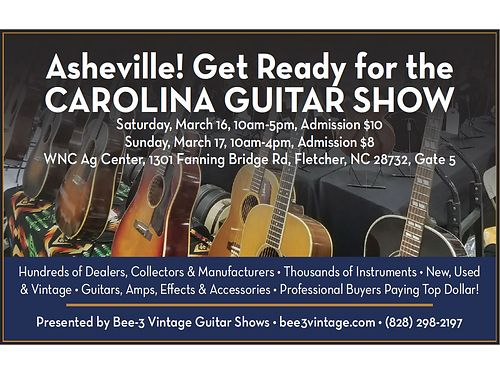GUITAR SHOW FEB 27  28 Spartanburg Expo Center Exit 17 off I-26 6655 Pottery Ro