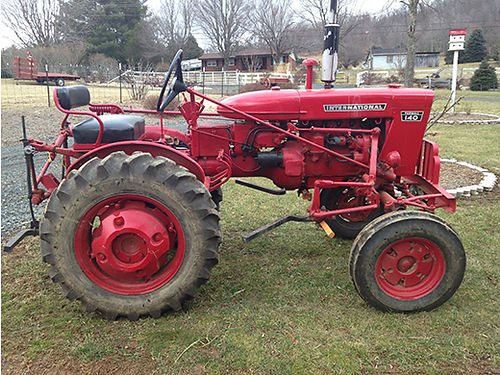 TRACTOR Internatioal Harvester 140 new tires wheels engine rebuilt wdbl dic dbl plow bush hog