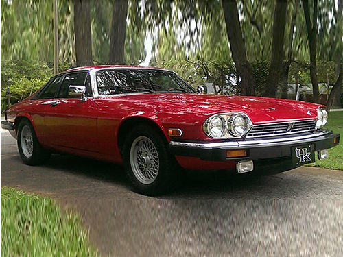 1989 JAGUAR XJ-S V12 coupe Signal Red beige leather interior wwood original paint custom stainl