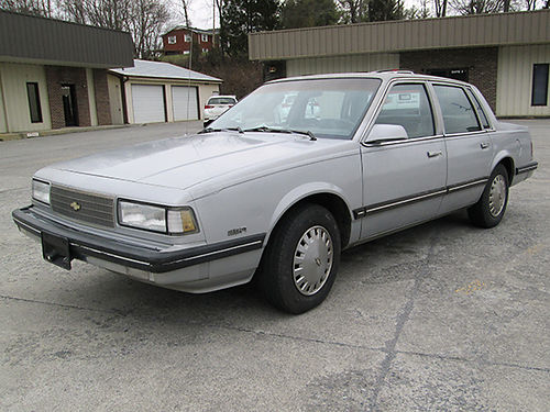 1988 CHEVROLET CELEBRITY 25 4cyl one owner 62K silver new battery 4 Michelin tires runs great