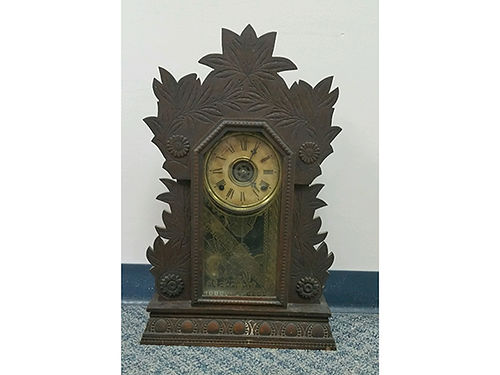 CLOCK from 1850s Laurel No 3 manufactured by Wm L Gilbert Clock Co Winsted Conn USA 150 42