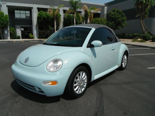 2005 VW BEETLE Convertible light blue 4cyl auto air tilt cruise leather CD back-up camera