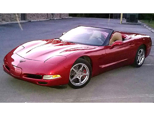 2002 CHEVROLET CORVETTE convertible LS1 V8 auto air tilt cruise loaded leather heads-up disp