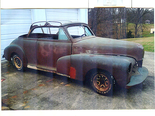 1947 CHEVROLET CONVERTIBLE complete solid car stored inside last 30 years extra parts Camaro sub-
