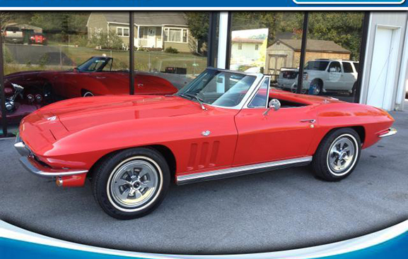 1965 CORVETTE CONV gorgeous red black interior most everything replaced when restored Chevy crate