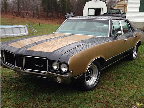 1972 OLDSMOBILE CUTLASS Hurst black  gold paint job 350 V8 auto completely rebuilt very solid o