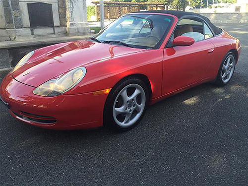 2000 PORSCHE 911 red convertible wtan leather auto AWD 54K miles 8000 423-366-2200 after noon