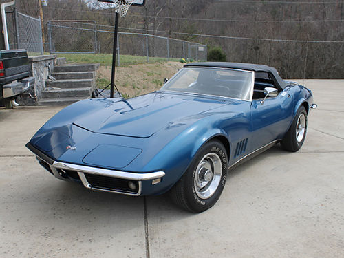 1968 CHEVY CORVETTE coupe wboth tops blue 327 wfactory 3 speed 326 built all numbers matching