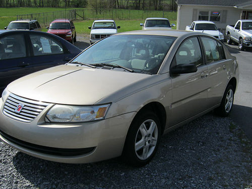 2007 SATURN ION 4dr tan 4cyl auto cd 4616 REDUCED 4495 J  L Motors Elizbethton Tn