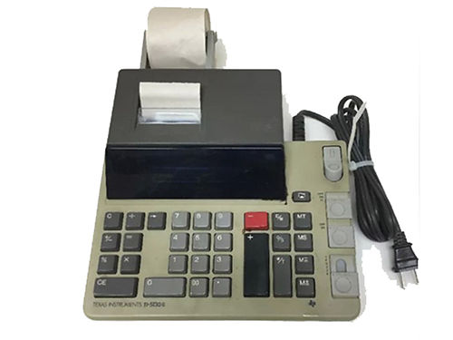 ADDING MACHINE Texas Instruments TI-5130 II very nice condition comes with roll of paper 20 423-3