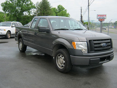 2011 FORD F150 4x2 grey Ext cab 37 auto air pw pl cd leather bedliner 00150 STOUTS RIVE