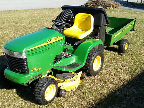 RIDING MOWER JD LX280 wbagger lawn cart 18hp V-twin Kawasaki hydrostatic drive EC 1800 all 42