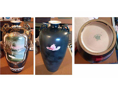 BIRD VASE Nippon hand painted 30 obo 276-783-9382 or 276-780-7542
