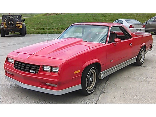 1982 CHEVROLET ELCAMINO SS red 350 V8 bored 20 over 4bbl auto headers all power lots of chro