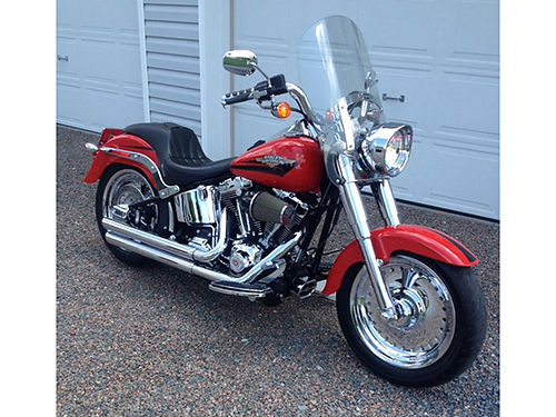 2010 HARLEY FAT BOY Only 4535 miles Screamin Eagle Vance  Hines exhaust chrome extras tuned an