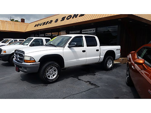 2004 DODGE DAKOTA SLT crew cab 4X4 47 v8 auto all power new tires clean truck DD04 8550 H