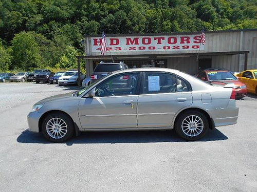 2005 HONDA CIVIC EX SE auto sunroof all power alloys 545129 3999 HD MOTORS KPT TN
