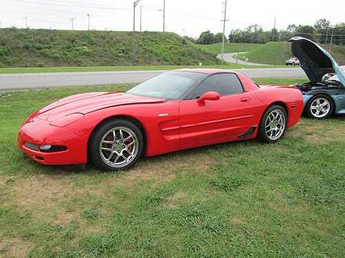 2004 CHEVY CORVETTE Z06 red on black 6sp chrome wheels only 72k miles a must see car 7791 249