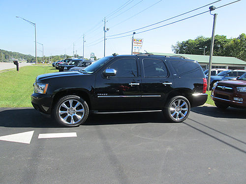 2011 CHEVY TAHOE LTZ blk 3rd row 4WD fact chrome 22 wheels books for 31000 like new price 1