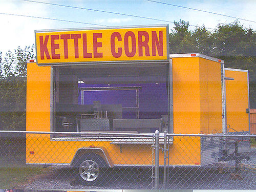 CONCESSIONS TRAILER kettle corn trailer Events Training opens on 2 sides wmarquees 4-sink auto