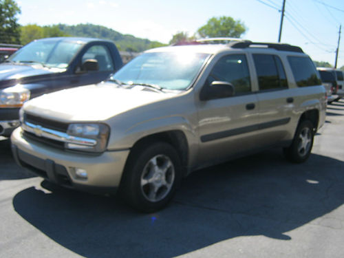 2005 CHEVY TRAILBLAZER EXT gold 4dr 4x4 tow hitch alloys auto air pw pl cd 122k 5681 STO