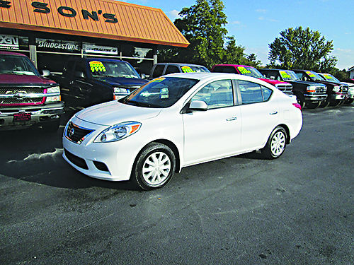 2013 NISSAN VERSA SV 4dr Sedan all power options 4cyl auto 90k 1 owner clean NVSV 7990 HOUS