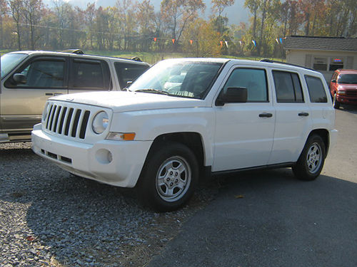 2010 JEEP PATRIOT white 4dr air ps pb cd 113k 10Patriot REDUCED 5995 J  L Motors Elizabet