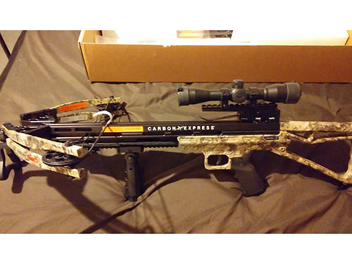 CROSS BOW Carbon Express Covert CX-3SL 185lb pull adjustable scope laser forward hand grip incl