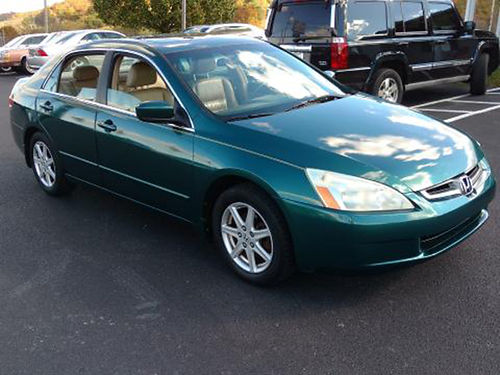 2003 HONDA ACCORD EX leather heated seats 490 Was 5995 Now 4995 MR DS AUTOMOTIVE Piney Flats