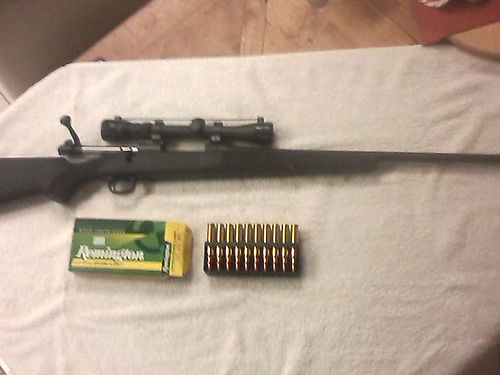 RIFLE 300 mag model 70 Winchester wscope 660 rounds 300 mag ammo used about 6 times cost 1500 a