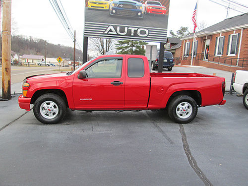 2005 CHEVY COLORADO Ex-Cab 4dr 2WD 4cyl 5sp alloys cd 1 owner local trade runs great nice co
