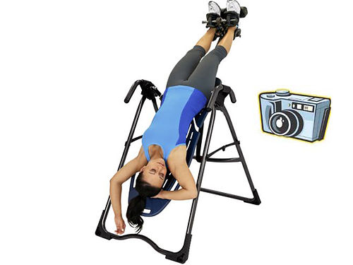 GRAVITY MACHINE Inversion Therapy fitness used couple times great for your lower back heavy duty