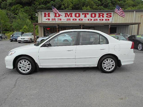 2004 HONDA CIVIC LX auto all power low miles 563000 4999 HD MOTORS KPT TN