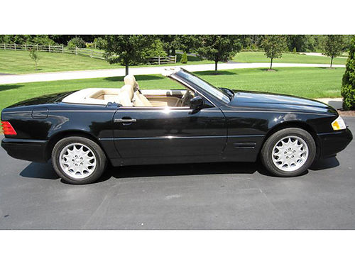1998 MERCEDES SL500 V8 auto black and tan new BF Goodrich tires runs great 8500 423-366-2200