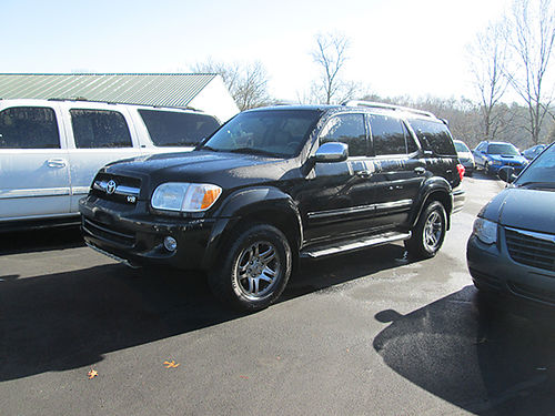 2007 TOYOTA SEQUOIA v8 4WD 4dr Limited blk 3rd row leather loaded 1821 Was 13900 Now 1250