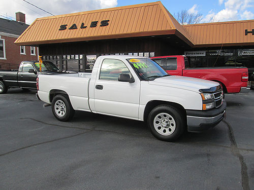2006 CHEVY 1500 shortbed 2WD v6 auto new tires higher miles runs great no rust at all CT06
