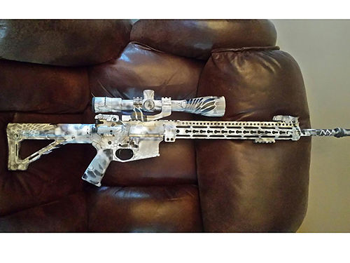 ASSAULT RIFLE Anderson 223 Vortex scope 65-20 dipped white camo upgraded bolt action for smoothe