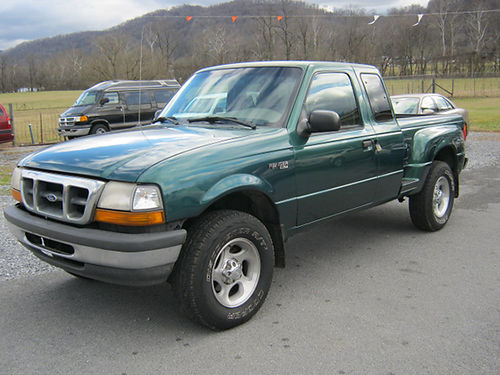 1999 FORD RANGER XLT Ext cab 4x4 green excellent cond new tires 30 6cyl auto alloys loaded