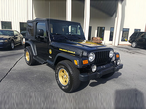 2006 JEEP WRANGLER Golden Eagle black 4x4 low miles local alloys 6cyl 5sp loaded air ps p