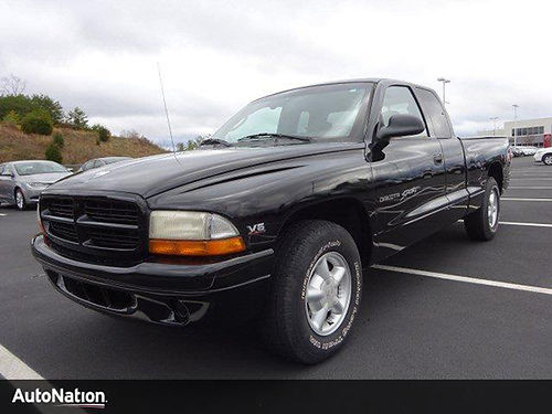 2000 DODGE DAKOTA SPORT black Ext cab tow hitch air ps pb ANIL31 7925 AutoNation Chrysler Je