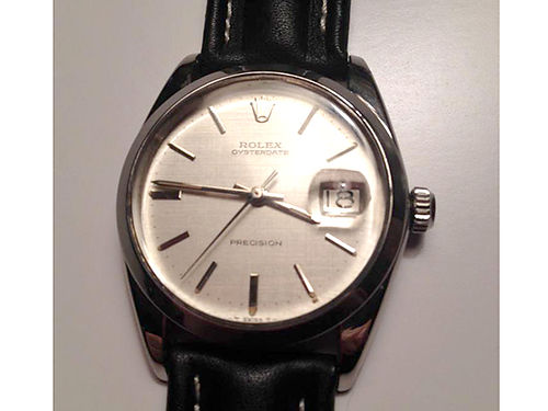 WATCH Stainless Steel Oyster Date Presision manual wind 17 jewel EC 1500 865-977-6625
