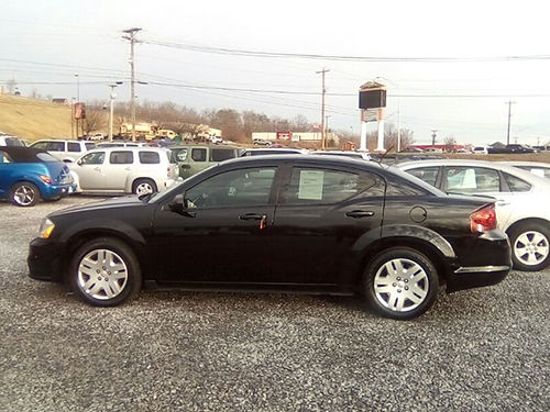 2012 DODGE AVENGER SE black 4dr air all power cd 1612783 8450 RAINBOW MOTORS Kingsport Tn