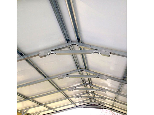 CARPORT 18x36ft heavy duty built only a year old 8ft legs on 4ft centers 10ft in center A-vertic