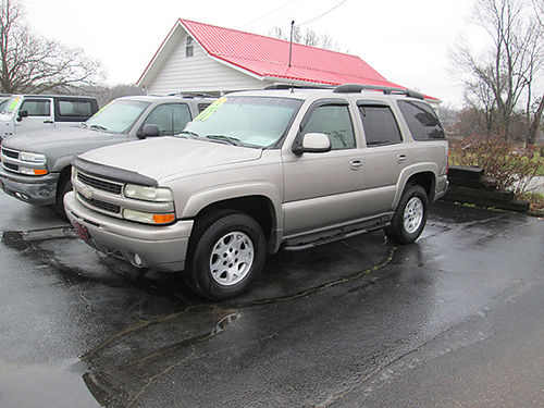 2002 CHEVY TAHOE Z71 4x4 leather psunroof tow pkg fully loaded new tires extra nice local tr