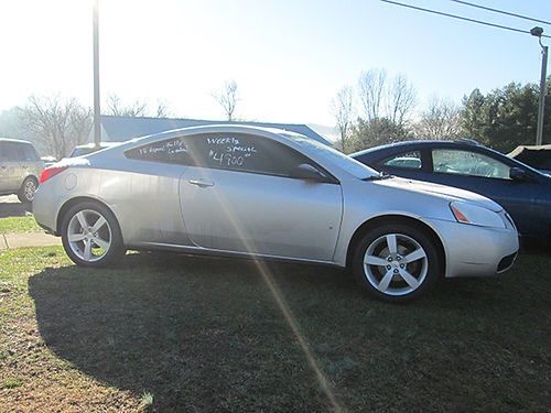 2007 PONTIAC G6 GT leather all power sunroof 6sp trans 1087A Was 5900 Now 4900 LIGHTNING AU