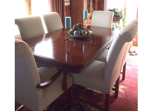 Dining room suite kincaid 7 piece dark for sale for Dining room jonesborough tn