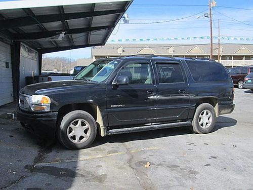 2004 GMC YUKON DENALI XL v8 auto 4x4 black leather all power cd keyless entry alloy wheels GC