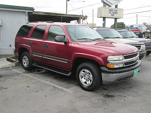 2004 CHEVY TAHOE v8 auto 4x4 leather all power 4dr good condition RWASH CALL ALLEN HODGE MO