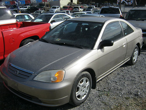 2002 HONDA CIVIC gold 4cyl auto pw pl cd 0295 4500 Down JJ AUTO SALES Kingsport TN
