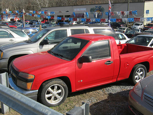 2005 CHEVY COLORADO red tow hitch 4cyl 5sp ps pb 156k 7432 6295 Down JJ AUTO SALES Kings